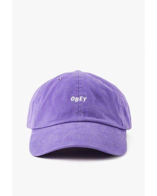 Obey | Purple Jumble Bar Hat Ii for Men | Lyst