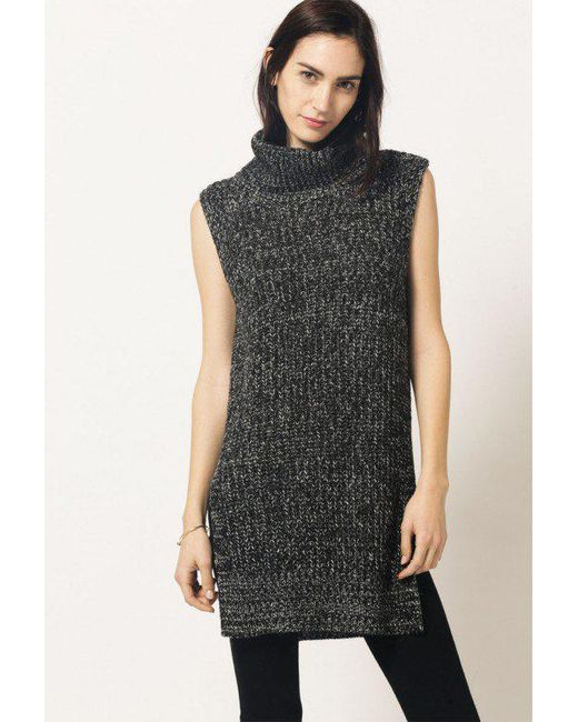 Azalea - Gray Sleeveless Turtleneck Top - Lyst