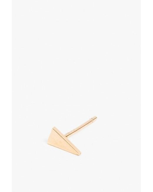 Jennie Kwon | Metallic Triangle Stud - Single | Lyst