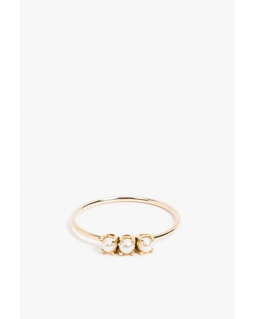 Jennie Kwon | Metallic Tri Pearl Ring | Lyst