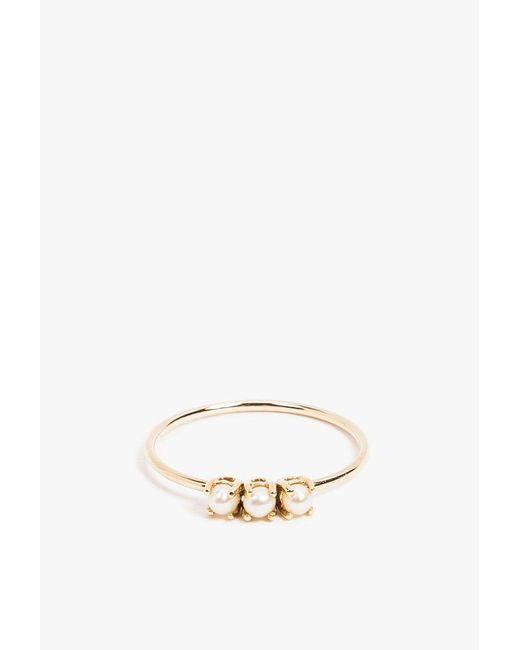 Jennie Kwon | Metallic Tri Pearl Ring | Lyst