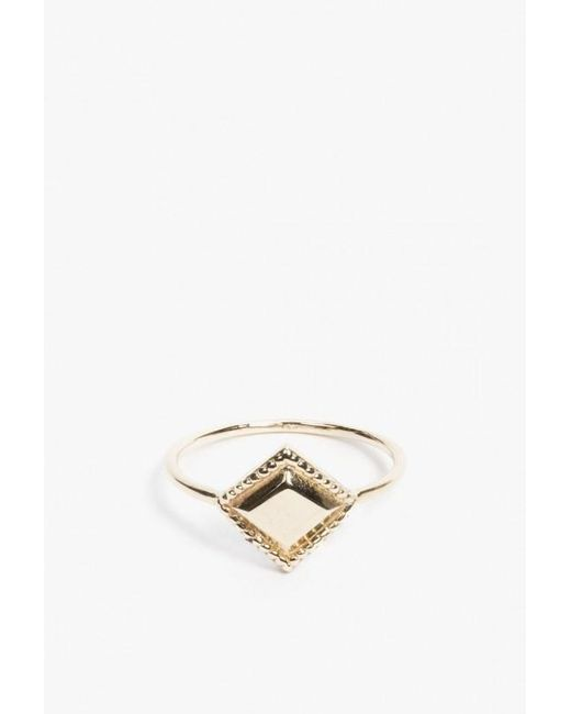Jennie Kwon | Metallic Square Milli Ring | Lyst