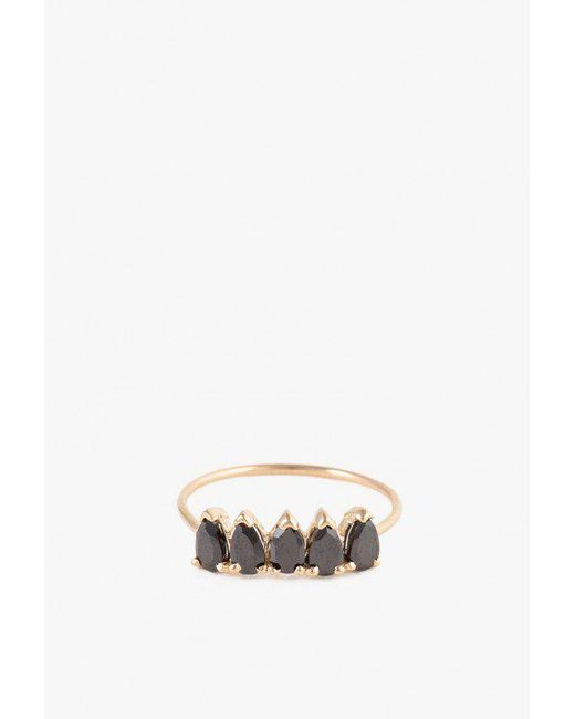 Loren Stewart - Metallic Onyx Band Ring - Lyst