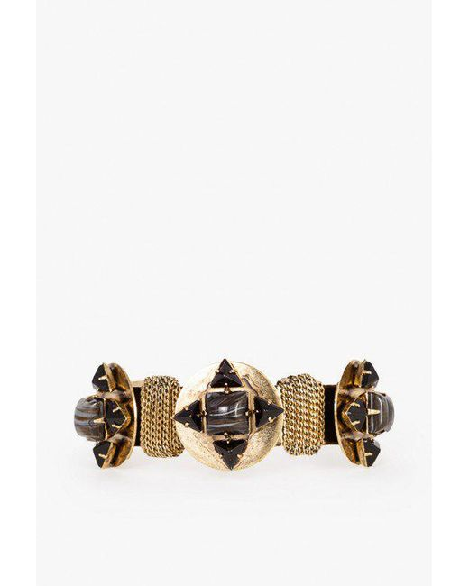 Nicole Romano | Metallic Triple Gem Disc Cuff | Lyst