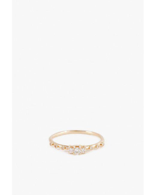 Jennie Kwon - Metallic Diamond Beacon Ring - Lyst