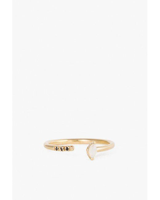 Lumo - Metallic Opal With Pave Cuff Ring - Lyst