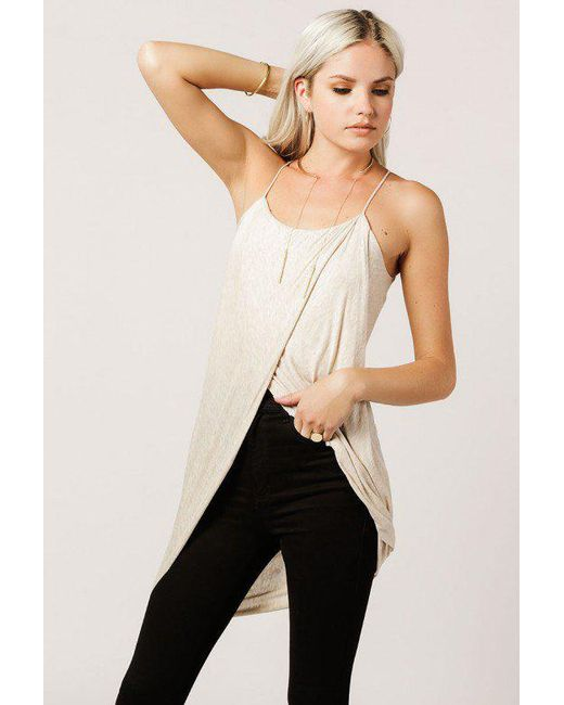Azalea - Natural Criss Cross Cami Top - Lyst