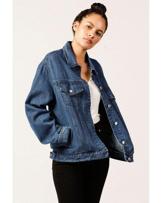 Azalea - Blue Denim Jacket With Back Laces - Lyst