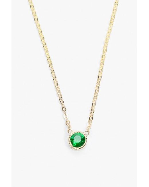 Jennie Kwon | Green Magic Eye Emerald Necklace | Lyst