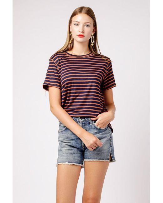 0f0c0cf11d35d Lyst - Azalea Mina Stripe Knit Tee in Blue - Save 43%