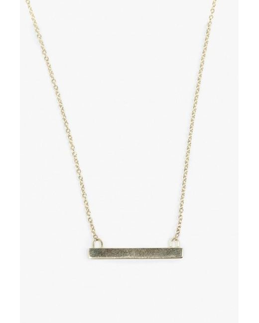 Loren Stewart | Metallic Baby Bar Necklace | Lyst
