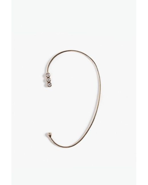 Jennie Kwon | Metallic Diamond Three Bezel Ear Cuff | Lyst