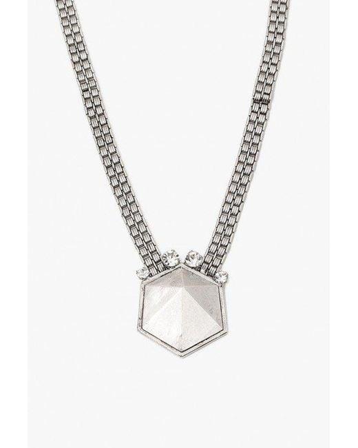 Nicole Romano - Metallic Geo Rock Crystal Band Necklace - Lyst