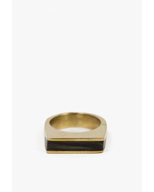 Soko - Black Horn Line Ring - Lyst