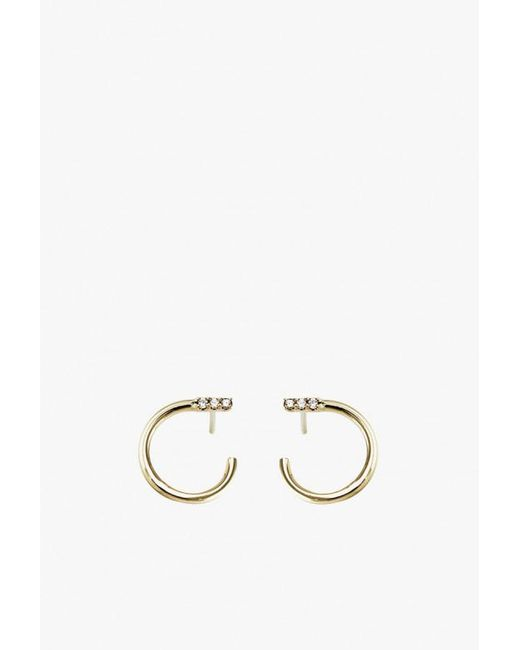 Lumo - Metallic Pave Slip On Stud Earrings - Lyst