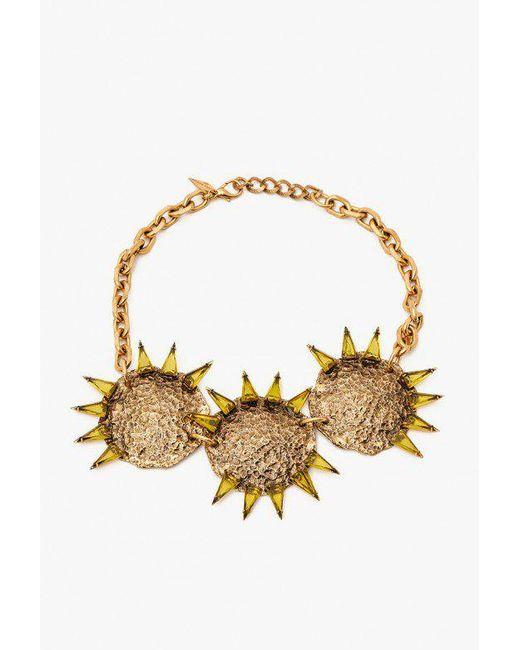 Nicole Romano - Metallic Triple Hammered Triangle Medallion Necklace - Lyst