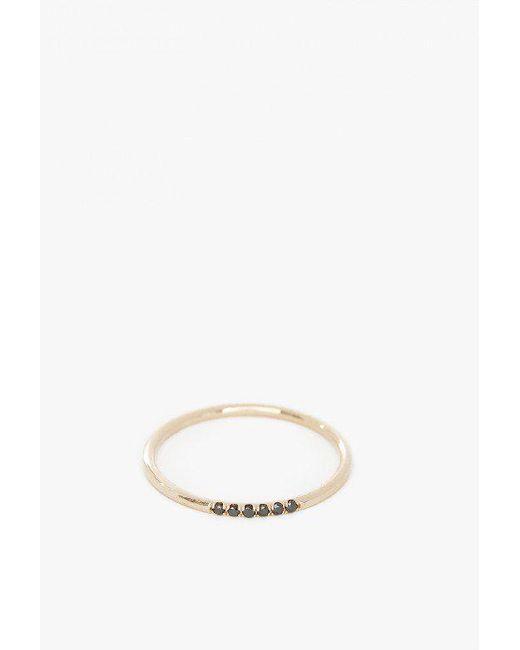 Jennie Kwon | Metallic Black Diamond Semi Pave Ring | Lyst