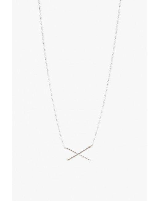Gabriela Artigas - White X Necklace - Lyst