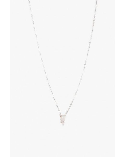 Lumo | Metallic Ava Opal Silver Necklace | Lyst