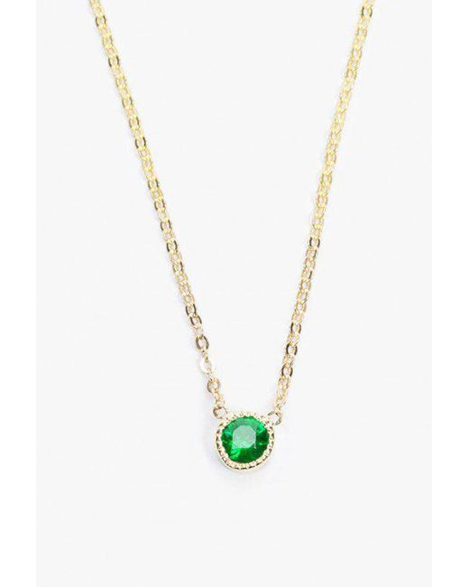 Jennie Kwon | Green Magic Eye Emerald Necklace | Lyst