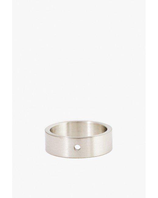 Marmol Radziner - White Lighweight Solid Standard Ring for Men - Lyst