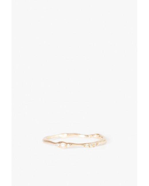Blair Lauren Brown - Metallic Asymmetrical Diamond Branch Ring - Lyst