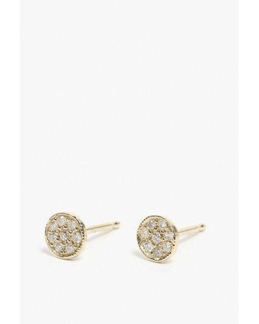 Ariel Gordon | Metallic Pave Mini Circle Stud Earrings | Lyst