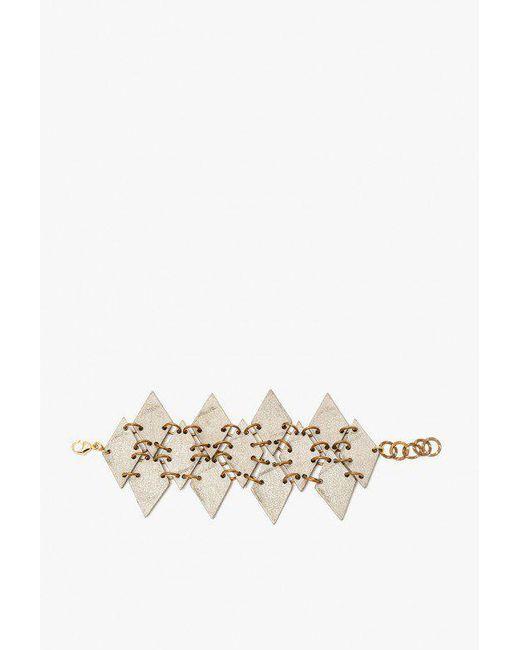 Nicole Romano - Metallic Linked Diamond Mosaic Bracelet - Lyst