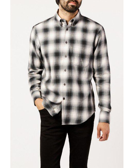 Naked & Famous - Gray Regular Shirt for Men - Lyst