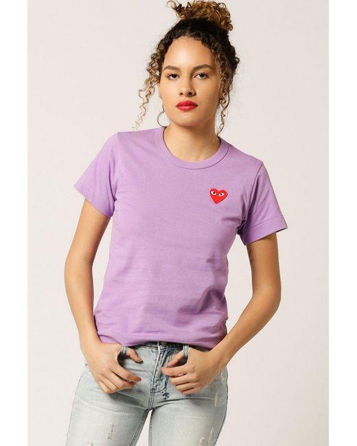 COMME DES GARÇONS PLAY - Purple Women's Red Heart Emblem Tee - Lyst