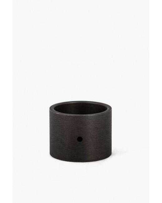 Marmol Radziner - Black Lw Solid Double Wide Ring - Lyst