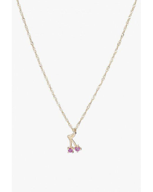 Ariel Gordon - Metallic Ruby Cherry Bomb Necklace - Lyst