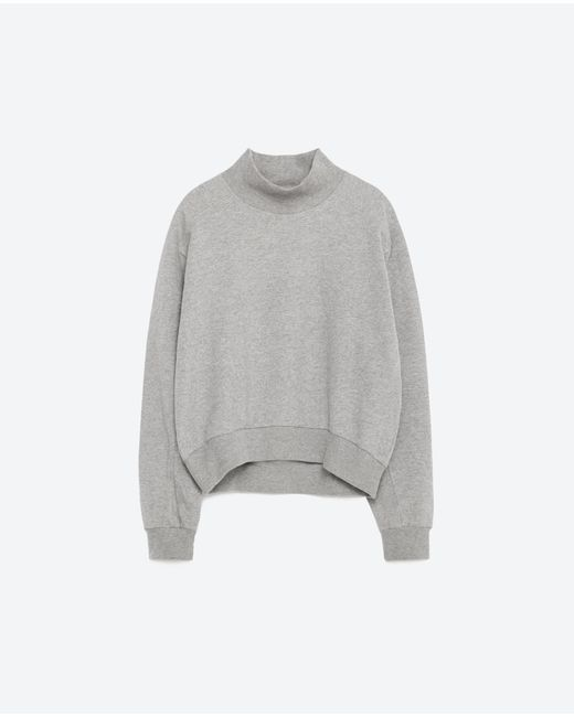 Zara Cropped Grey Sweater 7