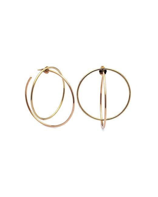 Caterina Zangrando | Metallic Rico Circles Gold Plated Earrings | Lyst