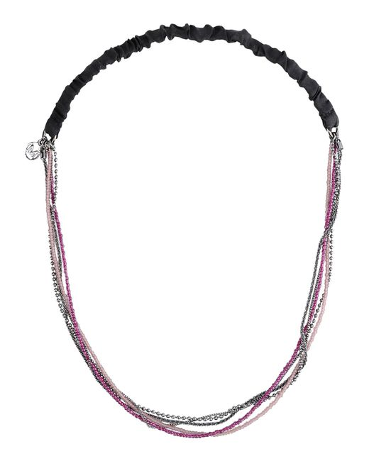 Maison Michel | Pink Angelique Necklace | Lyst