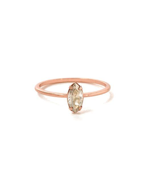 Bing Bang | Pink Tiny Marquis Ring | Lyst