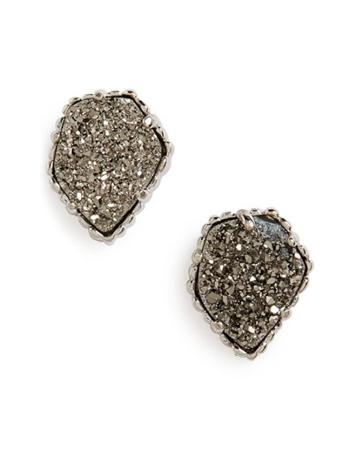 Kendra Scott | Metallic 'tessa' Stone Stud Earrings | Lyst