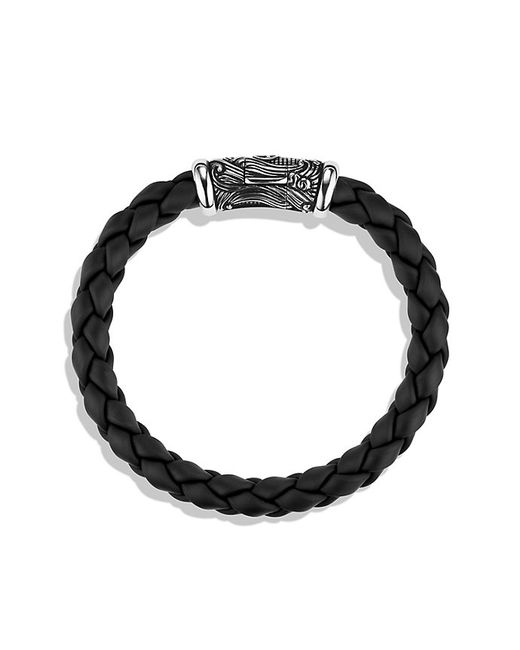 David Yurman Waves Bracelet In Black In Silver For Men Lyst