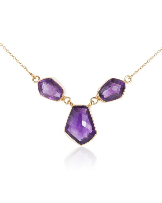 Caroline Creba | Purple 18ct Gold Plated Sterling Silver 20.50ct Amethyst | Lyst