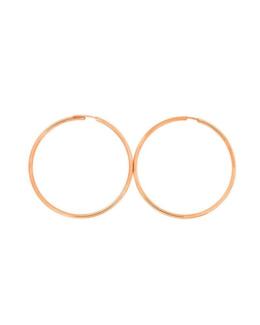 Azendi | Metallic Rose Gold Plated Silver Hoops 5cm | Lyst