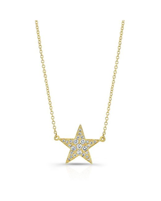 Anne Sisteron | Metallic 14kt Yellow Gold Diamond Star Necklace | Lyst