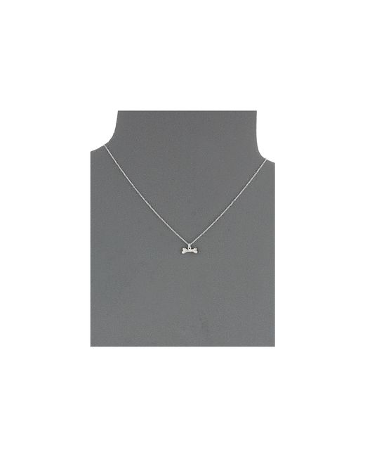Dogeared | Metallic Happy Tails Dog Bone Necklace | Lyst