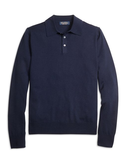 Brooks Brothers   Blue Saxxon Wool Polo for Men   Lyst