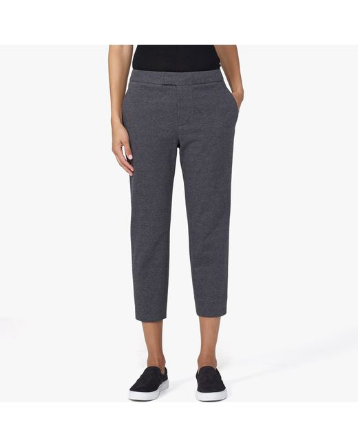 James Perse | Gray Knit Slim Cropped Trouser | Lyst