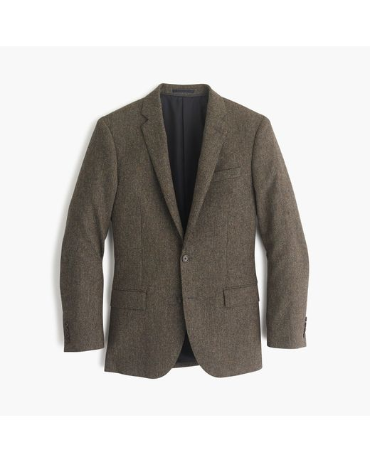 J.Crew | Brown Ludlow Suit Jacket In English Donegal Tweed for Men | Lyst