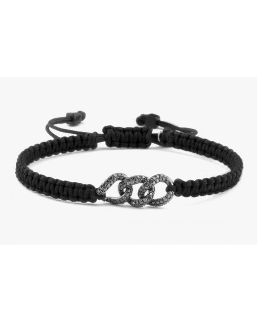 Tateossian | Black Macramé Links Pavé Bracelet In 18k Gold for Men | Lyst