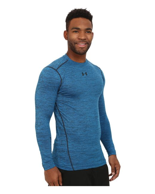 Under Armour | Blue Ua Coldgear® Armour® Twist Compression Crew for Men | Lyst