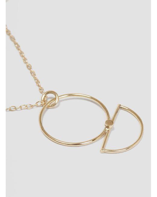 Katrine Kristensen | Metallic Sunrise Necklace Gold Plated | Lyst