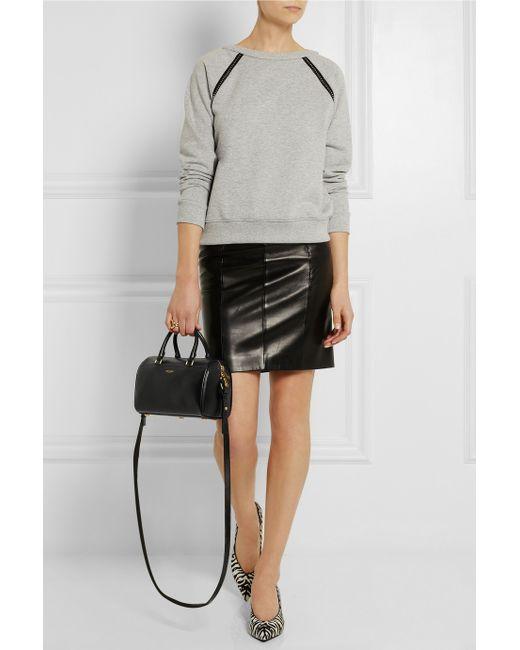 efb10648990 Saint laurent Classic Duffle Mini Leather Bag in Black   Lyst