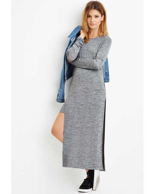 Forever 21 | Gray Contemporary Layered Stretchy Marled Dress | Lyst